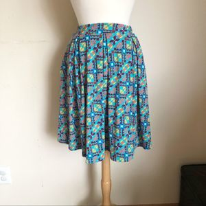 LulaRoe Madison Skater Skirt Printed Size X-Small